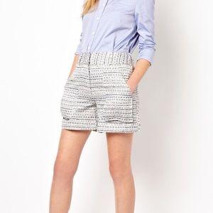 Adam Lippes Tweed Shorts Sz 6